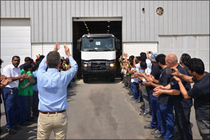 First Saudi-built Renault Truck rolls out of AVI facility in King Abdullah Economic City (KAEC)
