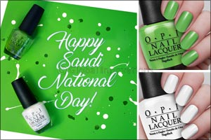 Celebrate Saudi National Day wearing OPI!