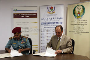 Skyline University College (SUC) Signed an MOU with Ras Al Khaimah Residency and Foreigners Affairs