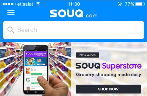 SOUQ.com leads the way for online grocery shopping in the Middle East by launching 'SOUQ Superstore'