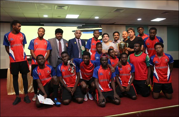 Skyline University College (SUC) Football Team Received Trophy from football legend Diego Maradona