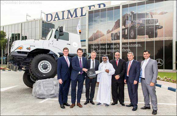 Daimler Commercial Vehicles MENA and EMC deliver 27 Mercedes-Benz Zetros trucks to Suhail Al Mazroui Est.