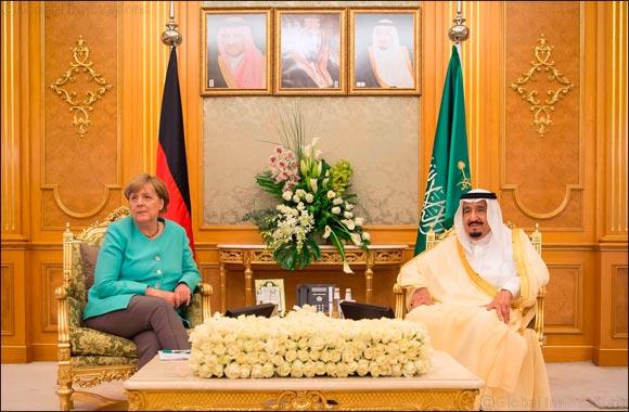 His Majesty King Salman Bin Abdulaziz Al Saud and German Chancellor Angela Merkel Witness MoU between Saudi Government and SAP to Launch SAP Cloud Hub in the Kingdom of Saudi Arabi
