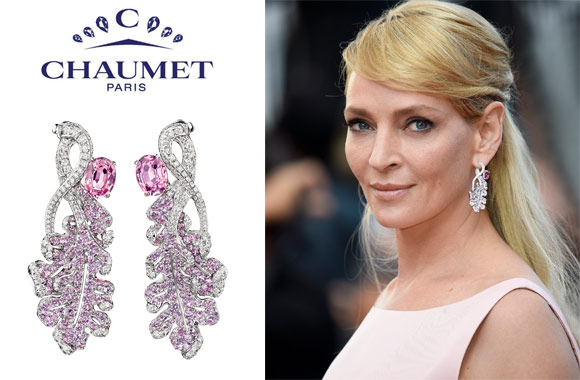 Chaumet - Uma Thurman wears Chaumet at Cannes International Film Festival 2017.