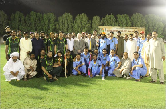 Skyline University College Iftar Dinner and Cricket Match for 200 Sharjah Laborers