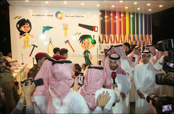 "Prince Mansour Bin Megren visits ""Al- Jazeera Paints Children's corner "" at the Art Street in Abha"
