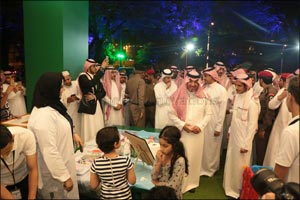 "Prince Mansour Bin Megren visits ""Al- Jazeera Paints Children's corner "" at the Art Street ..."