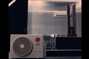 LG DUALCOOL Air Conditioner Builds a Tower of Chocolate