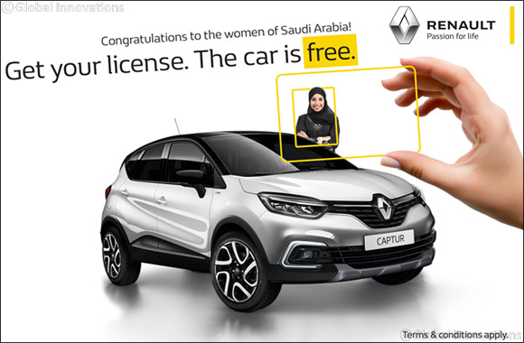 Renault Middle East celebrates Saudi women in the driver's seat with model giveaway