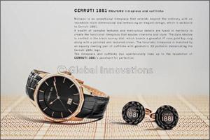 Cerruti 1881 MOLVENO timepiece and cufflinks