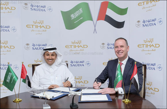 Etihad Airways and Saudi Arabian Airlines (Saudia) Announce Codeshare Partnership and Further Cooperation