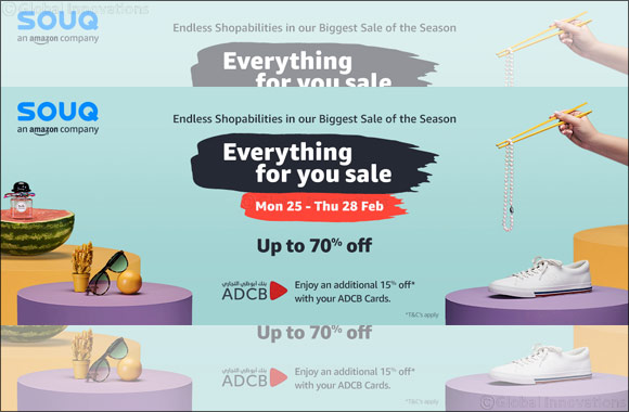 SOUQ's 'Everything For You Sale' is Back, Offering Savings Of Up To 70%