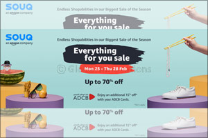 SOUQ's �Everything For You Sale' is Back, Offering Savings Of Up To 70%