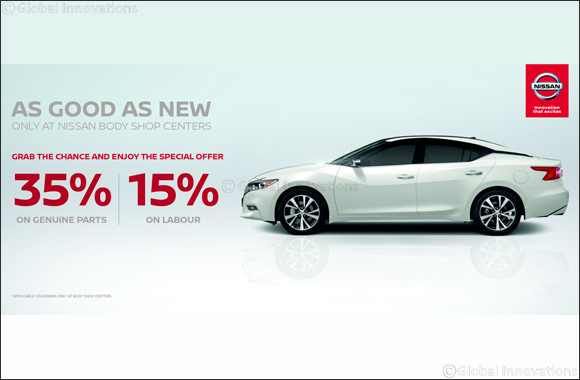 Nissan Al Babtain unveils special offers at Nissan body shop centers