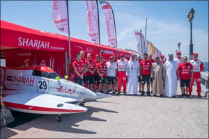 SMISC board members visit Sharjah Team at Saudi Arabian Grand Prix