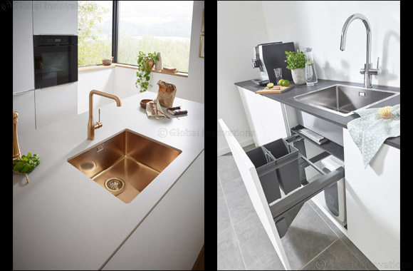 As if Made from One Piece: GROHE Offers Individual System Solutions for the Entire Work Area Around the Kitchen Sink
