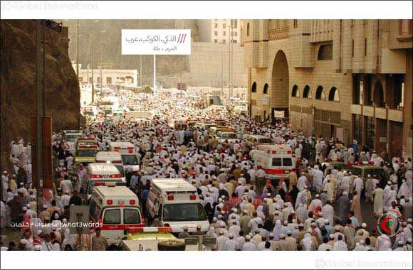 Three words that could save your life: Saudi Red Crescent Authority roll out what3words location technology in a revolutionary move to improve response times ahead of Hajj