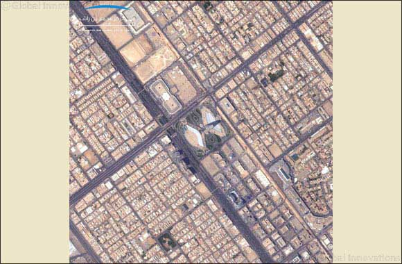 KhalifaSat congratulated people of KSA with a  capture of the skyscraper, Kingdom Centre, image from space