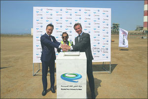 ACCIONA lays the first stone for IWP Shuqaiq-3, one of the largest desalination plants in Saudi Arab ...