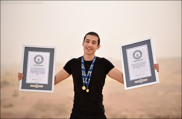 Egyptian Multi-Time Guinness World Records Titleholder Secures Another One in Front of Hibs Temple in Egypt