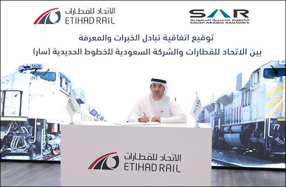 Etihad Rail and Saudi Railway Company (SAR) to Cooperate in the Exchange of Services and Training