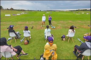 Golf Saudi Ambassador Camilla Lennarth Gives A Special Clinic For Female Players From The Muslim Gol ...