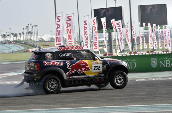 Sheikh Nahayan flags off super stage to launch  25th Abu Dhabi Desert Challenge
